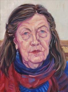 Marian,olieverf, 40 x 30 cm, 11/2019, huile, Marian