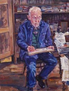 Charles,olieverf, 30 x 26 cm, 3/2020, huile, Charles