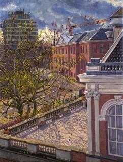 Roetersstraat, Amsterdam, olieverf, 41 x 31 cm, 5/2006, huile, Amsterdam