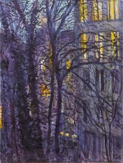Berlijn, aquarel, 24 x 18 cm, 12/2008, aquarelle, Berlijn