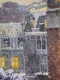 Achterkant Nieuwe Nieuwstraat, A'dam, olieverf, 32 x 24 cm, 12/2005, huile, Amsterdam