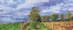 Serre Bertras, olieverf, 19 x 46 cm, 10/2012, huile, Serre Bertras
