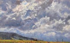 Menglas, olieverf, 20 x 32 cm, 8/2015, huile, Menglas