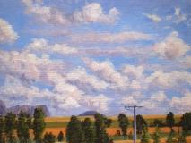 Vulson, olieverf, 19 x 25 cm, 7/2005, huile, Vulson