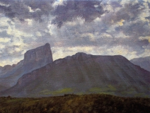 De Mt. Aiguille, olieverf, 19 x 25 cm, 5/2006, huile, Le Mt. Aiguille