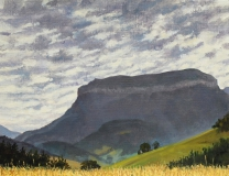 De Châtel, olieverf, 19 x 25 cm, 8/2006, huile, Le Châtel