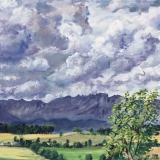 Col de Cornillon, olieverf, 30 x 30 cm, 7/2014, huile, Col de Cornillon