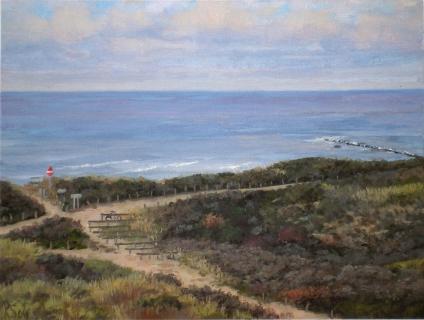 Duinen bij Den Haag, olieverf, 19 x 25 cm, 9/2006, huile, Dunes à La Haye