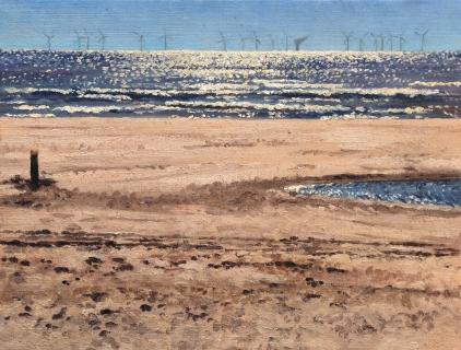 Egmond, olieverf, 19 x 25 cm, 6/2009, huile, Egmond